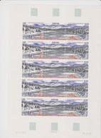 SAINT PIERRE ET MIQUELON 1 Feuille 10 T 5 Triptyques N°YT 586A Date 5.8.93 - L'étang De La Loutre - St.Pedro Y Miquelon