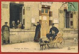 Attelage De Chien -Facteur- Vienne En Val-Loiret -voyagée  Avec Timbre-Scans Recto Verso- Paypal Sans Frais - Other Municipalities