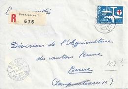 R Brief  Porrentruy - Bern          1956 - Suisse