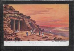 AK 0420  Perlberg , F. - Aegypten / Felsengräber Von Benni-Hassan - Künstlerkarte Ca. Um 1910 - Perlberg, F.