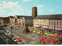 Karlsruhe Animée Marktplats Tram Tramway Voitures - Karlsruhe