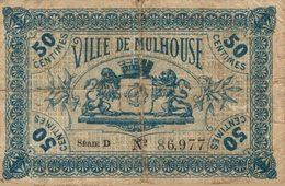 11467  BILLET CHAMBRE DE COMMERCE DE MULHOUSE - Camera Di Commercio