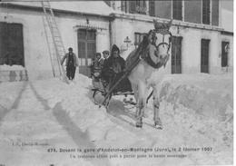 ANDELOT EN MONTAGNE    DEVANT LA GARE    UN TRAINEAU ATTELE PRET A PARTIR - France