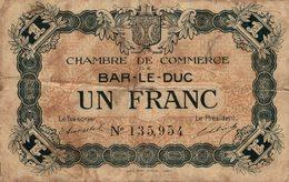 11468  BILLET CHAMBRE DE COMMERCE DE BAR LE DUC - Camera Di Commercio