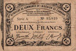 11469  BILLET CHAMBRE DE COMMERCE DE CAMBRAI - Chambre De Commerce
