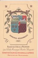 974 ILE DE LA REUNION - ARMOIRIES REUNIONNAISES - 1925 - BLASON - BOURBON - EXPOSITION COLONIALE UNIVERSELLE DE PARIS - La Réunion