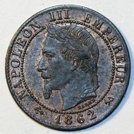 Nap. III - 1 Cent. - 1862 K - France