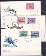 Yugoslavia, 1966, Hockey, Rowing, Athletic, FDC - Briefmarken