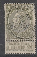 COB N° 59 Oblitération HUY (NORD) 1897 / DEFAUTT - 1893-1800 Fijne Baard