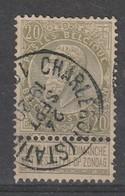 COB N° 59 Oblitération CHARLEROI (STATION) - 1893-1800 Fijne Baard