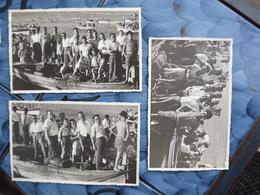 M209 LOTTO DI N. 3 FOTO CM. 14 X 9 FORMIA GAETA LATINA FESTA PER LA MADONNA DI PORTO SALVO AGOSTO 1948 - Latina