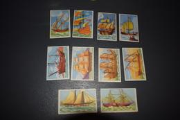 Chocolat Aiglon 10 Les Beaux Navires N° 421 - 422 - 423 - 424 - 425 - 426 - 427 - 428 - 429 - 431 - Aiglon