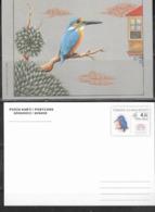 TURKEY, 2019, MINT POSTAL STATIONERY, PREPAID POSTCARD, BIRDS, KINGFISHERS, 150th ANNIVERSARY OF THE POSTCARD - Altri
