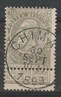 COB N° 59 Oblitération CHIMAY 1899 - 1893-1800 Fijne Baard