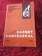 SYNDICAT CHRÉTIEN ENSEIGNEMENT PRIVÉ  CFDT CFTC CARNET CONFÉDÉRAL ARLES+ 24 VIGNETTES COTISATIONS ERINNOPHILIE - Historische Dokumente