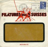 ROUBAIX NORD 1953 Flamme ARMEE DE TERRE UNE IDEE UNE CARRIERE Timbre 15F Gandon DEVANT SEUL - Marcophilie (Lettres)