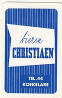 1 SPEELKAART KOEKELARE  CHRISTIAEN BIEREN TEL.44 - Playing Cards