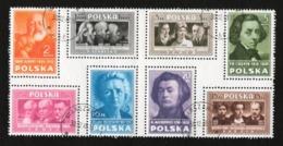 POLAND 1948  ZEGELS CULTUUR POSTFRIS NEUF FRAICHEUR POSTALE GOMME INTACTE MNH ** OBLI - Blocks & Sheetlets & Panes