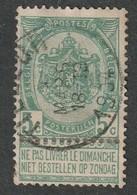 COB N° 56 Oblitération TILLEUR 1904 - 1893-1800 Fijne Baard