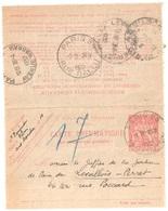 PARIS 53 Rue Poussin Carte Lettre Pneumatique 1,50F Chaplain Ob 1932 Dest Banlieue Levallois Perret  Yv 2604 - Pneumatiques