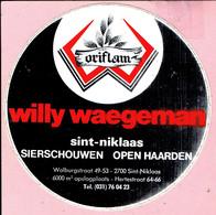 Sticker -  Willy WAEGEMAN - Sierschouwen Open Haarden - Walburgstraat Sint Niklaas - Autocollants
