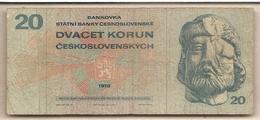 Cecoslovacchia - Banconota Circolata Da 20 Corone P-92b - 1970 #18 - Cecoslovacchia