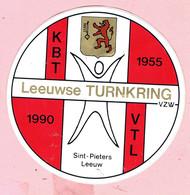Sticker -  Leeuwse Turnkring 1955 1990 - Sint Pieters Leeuw - Autocollants