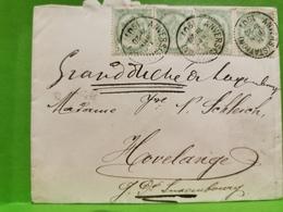 Lettre, Oblitéré Envoyé à Havelange. G. D. Luxembourg 1901 - 1893-1907 Armoiries