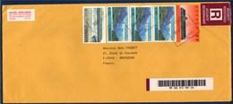= Pli Recommandé De Outremont (Québec Canada) à Montussan (France) 5 Timbres 31.10.1994 - Recomendados