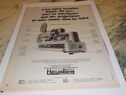 ANCIENNE  PUBLICITE PROJECTEUR  HEURTIER 1971 - Autres