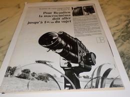 ANCIENNE   PUBLICITE NOUVEAU ZOOM  BEAULIEU  1971 - Autres