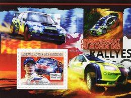 Guinée 2007 -  Championnat Du Monde Des Rallyes - Sebastien Loeb - Hirvonen-Gronholm -  1v MS Neuf/Mint/MNH - Cars