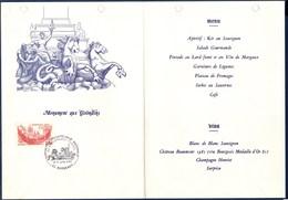 = Exposition Philatélique Nationale Congrès Fédéral Bordeaux 10-11.6.84 Sur Menu Du Banquet Palmares N°2316 - Cachets Commémoratifs