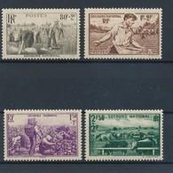 FRANCE - N°466/69 NEUFS** SANS CHARNIERE - 1940 - Unused Stamps