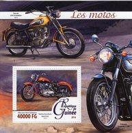 Guinée 2016 -  Les Motos - Triumph Bonneville-Ducati 250 - Harley-Davidson  -  1v MS Neuf/Mint/MNH - Motos