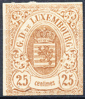 Stamp LUXEMBOURG 1859-64 25c Mint Lot20 - Tailandia