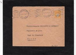 LSC 1945 - Cachet  ST MAUR DES FOSSES (Seine) - Type Arc De Triomphe  - YT 709 Seul Sur Lettre - Enveloppe Pour Niort - 1921-1960: Periodo Moderno