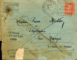 MONTEREAU 1932 Daguin DREYFUSS En 1994 Cote 50F N°MON383 CHASSE PECHE Retour à L'envoyeur 2599 DEFAUT - Postmark Collection (Covers)