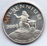 LIBERIA, 20 Dollars, Silver, Year 2000, KM #509.1 - Liberia