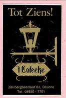 Sticker - Tot Ziens - 't Cafeeke - Zeilbergsestraat Deurne - Autocollants