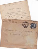 FRANCE LETTRE DE 1887 AVEC TIMBRE TYPE SAGE N° 90 TAMPON A DATE GRENOBLE / LETTRE Me SILVY NOTAIRE GRENOBLE - Marcophilie (Lettres)