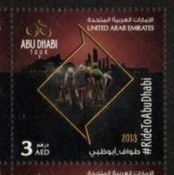 UAE, 2018, MNH, CYCLING, ABU DHABI TOUR, BICYCLES, 1v - Ciclismo