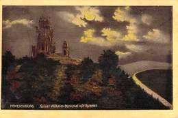 """Hohensyburg - Kaiser - Wilhelm - Denkmal Mit Ruhrral Militaria 1918 - Cachet Postal De Censure Bleu De METZ """"Geprüft Bef - Dortmund"""