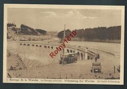 ROBERTVILLE. (Waismes-Weismes)  Barrage Principal De La Warche. Autobus, Automobile, Petite Animation. - Waimes - Weismes