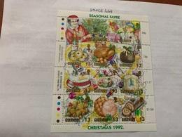 Guernsey Christmas M/s 1992 Mnh - Guernsey