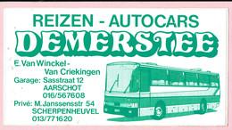 Sticker - Reizen Autocars DEMERSTEE - E. Van Winckel-Van Criekingen - Aarschot - Scherpenheuvel - Autocollants