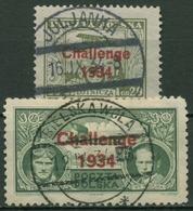 Polen 1934 Europa-Flug 1934 289/90 Gestempelt - 1919-1939 Republic