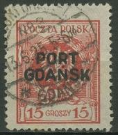 Polen Port Gdansk 1925 Marke Mit Aufdruck 6 Gestempelt - Poland