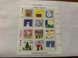 Guernsey Christmas M/s 1991  Mnh - Guernsey