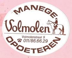 Sticker - MANEGE Volmolen - OPOETEREN - Autocollants